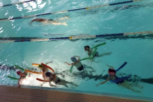 Zajęcia z nauki pływania klasy Ib, IIb